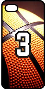 Basketball Sports Fan Player Number 03 Black Rubber Decorative iPhone 6 4.7 Case