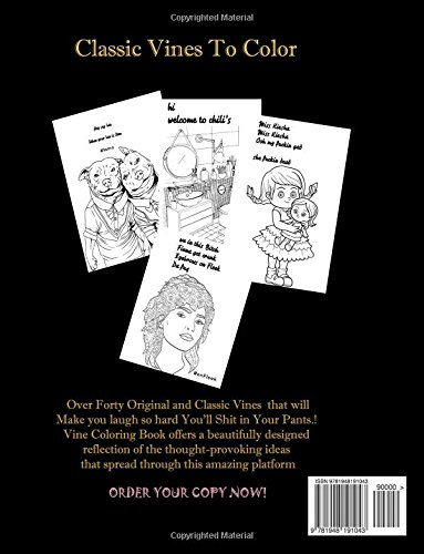 Amazon Vine Coloring Book 40 Stress Relieving Inspirational Quotes From Classic Vines 9781948191043 Victor Oj Books