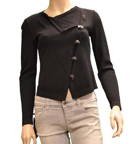 Armani Collezioni Black Viscose Jacket, 6, Black