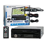 Soundstream VRN-74HB 1-DIN Single DIN 7'' Touchscreen GPS Navigation DVD Car Stereo Bluetooth + Wireless Remote & DCO Waterproof Backup Camera with Nightvision (Optional Color)