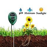 Bajotien 3 in 1 Soil Meter Plant Meter PH, Light Moisture, Soil Tester Kit Garden, Farm, Lawn, Indoor Outdoor