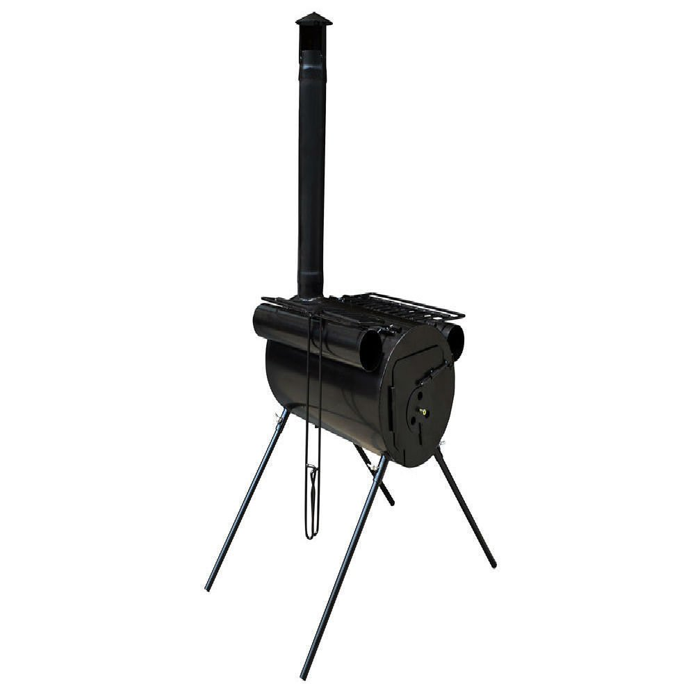 Commart Portable Military Camping Steel Wood Stove Tent Heater for Fishing Camp Cooking Ships from USA