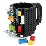 Taza de Bloques Armables (Tipo Lego),Build-On Brick Mug,Taza lego Compatible para el Desayuno y la Merienda, DIY Building Cup, Idea de Regalo Original para Adultos y Niños, Desarrolla la Creatividad, la Lógica y la Fantasía,Regalo de Navidad