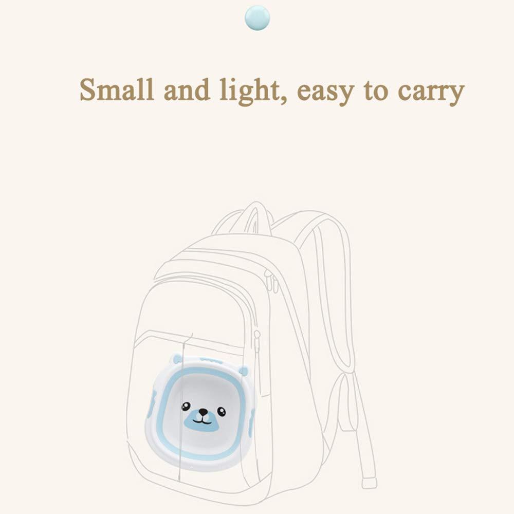 Jenify Port/átil beb/é ba/ñera Plegable Lavabo Silicona Lavabo Plegable Turismo ni/ños Lavado Infantil Ducha beb/é Cuidado Dibujos Animados Oso,Blue,S