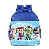Kids Super Why School Backpack Cartoon Children School Bags RoyalBlue