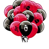 Slendima 16 Pcs Halloween Creative Latex Balloons,Cross Grave and Scary Zombie Halloween Decor Party Supplies