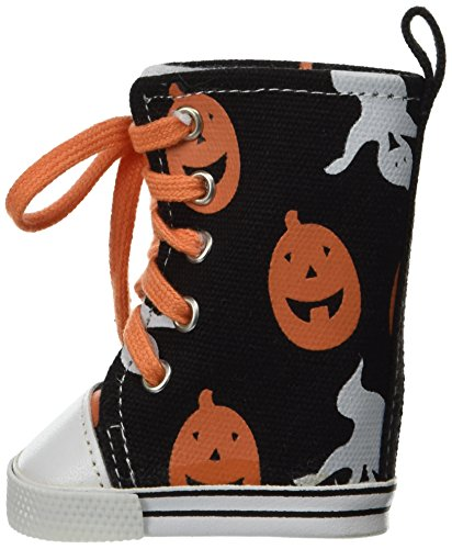 [Unique Doll Clothing Pumpkin and Ghost Halloween High Top Tennis Shoes for American Girl Dolls and Most 18
