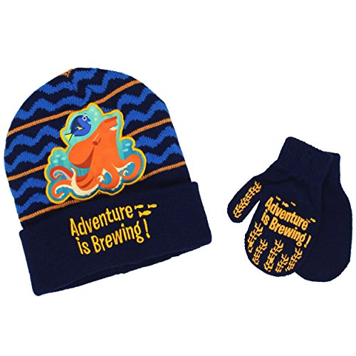 Disney Finding Dory Nemo Toddler Boys Beanie Hat and Mitt...