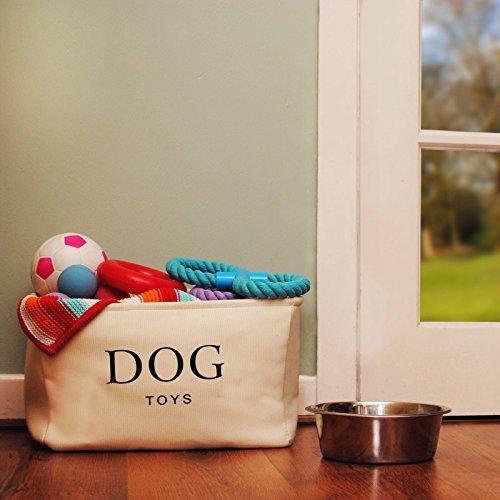 Cesta para Juguetes de Perro de Lona Color Crema - Caja de Alta Calidad para Almacenar los Juguetes de los Perros. 40 cm x 30 cm x 25 cm: Amazon.es: ...