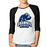 KONGYII Women's Shawnee State Bears Unique Raglan T Shirts