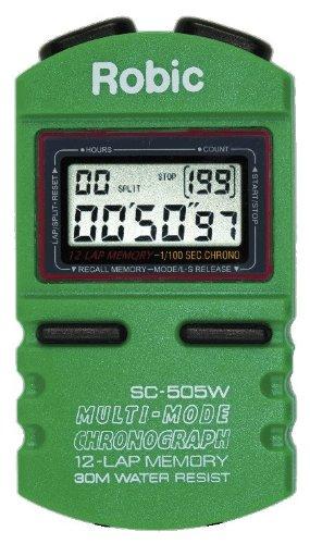 Robic SC-505W 12 Memory Stopwatch (Green)