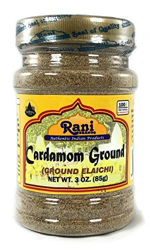 Rani Cardamom (Elachi) Ground, Powder Indian Spice 3oz (85g) ~ All Natural, No Color added, Gluten Free Ingredients | Vegan | NON-GMO | No Salt or -