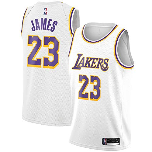 VF LSG #23 Lebron James Los Angeles Lakers Youth 2018 19 Swingman Jersey White - Association Edition M ()