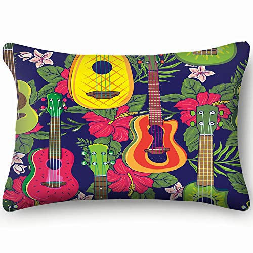 best bags Pop Colorful Hawaiian Fruity Ukulele Flower Holidays Throw Pillow Case Cushion Cover Double Side Design 20