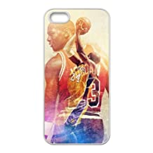 #23 Michael Jordan #24 Kobe Bryant Cell Phone Cases Custom Design Scratch Protection Cases Cover Slim fit for iPhone 5 5S SE White