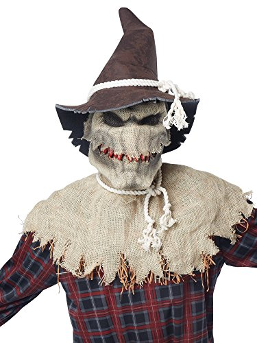 [California Costumes Men's Sadistic Scarecrow, Brown, Large/X-Large] (Scary Halloween Costumes Mens)