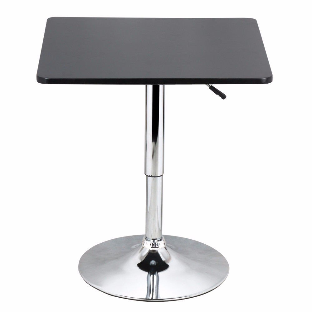 Square- Modern Swivel Counter Height Table Adjustable Pub Bistro Bar Cafe Tables Indoor by Unknown