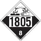 Labelmaster ZT4-1805 UN 1805 Corrosive Hazmat Placard, Tagboard (Pack of 25)