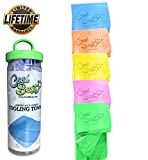 Cooling Towel - Workout / Tennis / Golf / Biking - Best For Any Sport Activities & Athletes Cold Towel - Chilly Pad By Cool Besty - Instant Cooling Snap Towel - Perfect For Fitness & Gym - GREEN