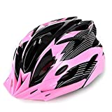 XARAZA Adult Cycling Bike Helmet Specialized for Mens Womens Safety Protection (Pink) For Sale