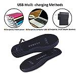 Semelles chauffantes adaptables rechargeables via câble USB pour femme/homme - pour chasse, pêche, randonnée, camping 8