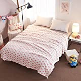 Znzbzt blanket single-person dorm students flange coral plush linens, Office of winter afternoon nap blankets quilts thick ,200230cm - Double blanket, pink love