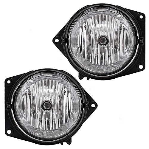 (Driver and Passenger Fog Lights Lamps Replacement for Hummer H3 Pickup Truck SUV 15807157 15807158 )
