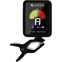 JOYO Guitar Tuner Clip-On Tuner Digital Electronic Tuner Acoustic with Full Color Display for Guitar, Bass, Violin…