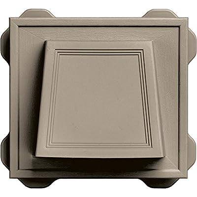 "Builders Edge 140116774097 4"" Hooded Dryer Vent 097, Clay"