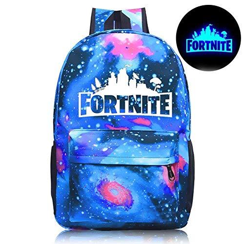 La Galaxy Colors - Heypeak Fortnite Backpack Battle Royale Galaxy Fortnite Luminous Backpack School Bags Laptop Hiking Travel Daily Rucksack Boys Girls Men Women (Color-1)