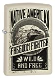 Zippo Lighter: Native American Freedom Flighter - Cream Matte 79230