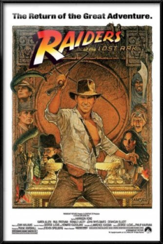 Raiders Of The Lost Ark - Indiana Jones - Framed Movie Poste