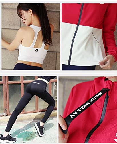 Trajes Kitrack Pantalones Delgados Chaquetas Secado Mujer Tres Deportiva De Ropa Yoga Para Piezas B Rápido rqIFTp0q
