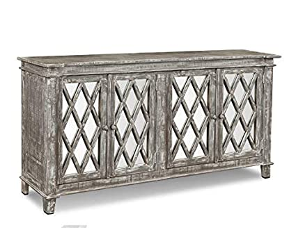 Dark Wood Mirrored Credenza : Amazon.com crafters & weavers rustic solid wood keystone mirrored