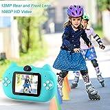 GKTZ Kids Camera Digital Dual Lens Video Cameras