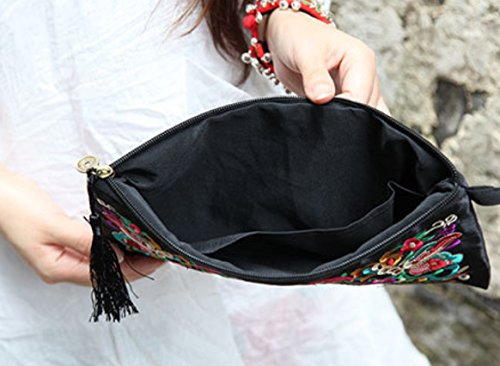 Coin Wallet Bag Galsang Purse Embroider Retro Flowers Charming TFXWERWS Ethnic Vintage Ladies gfTa8a