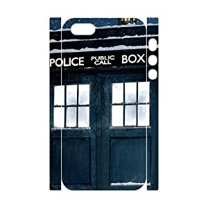 J-LV-F Cell phone Protection Cover 3D Case Doctor Who TARDIS Police Call Box For Iphone 5,5S