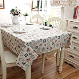 BZ-ZXS Square Polyester Cotton Tablecloth Seal Paris Tower Coffee Maker Rectangular Hotel Home Decor Cafe,Tower,140 * 180CM