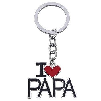 Llavero Metal I Love Dad Puerta llaves llave llavero corazón ...