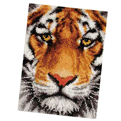 - SM SunniMix Latch Hook Rug Kits DIY Tapestry Carpet Rug Making for Kids Adults Beginners 75x57cm - Tiger
