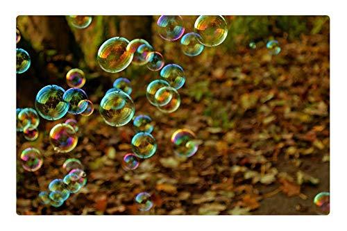 Tree26 Indoor Floor Rug/Mat (23.6 x 15.7 Inch) - Bubble Fun Colors Game Flight Light Background
