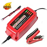 Yishen Smart Car Battery Charger Maintainer 12V 5A 4-Stage CE Approved Smart Fast AGM/SLA/Gel Sealed Lead Acid Battery Charger Electric Lawn Mower or Garden
