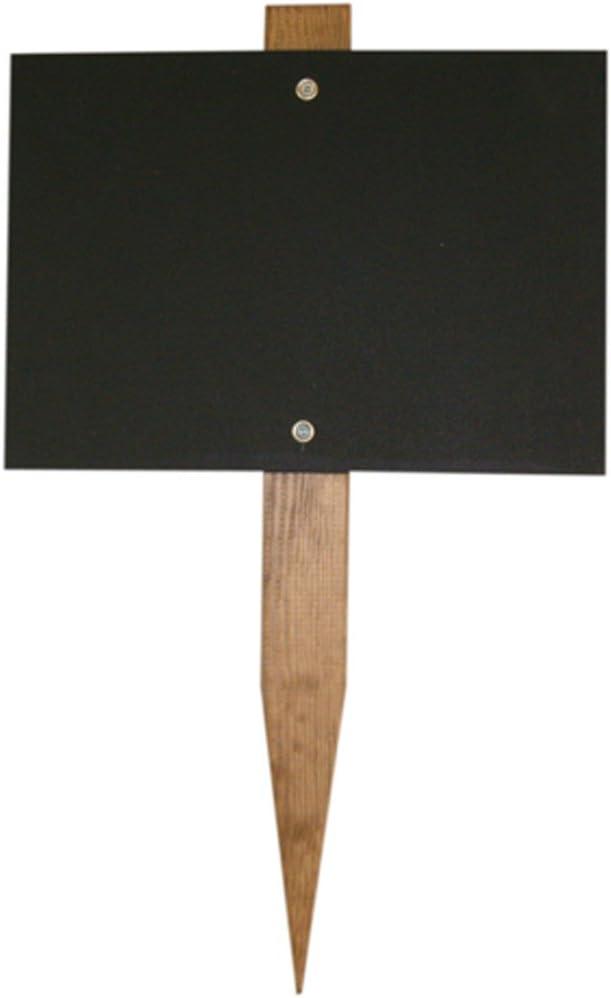 Chalkboards UK Mini Blackboard Garden Stake, Wood Black, 150 x 105 mm
