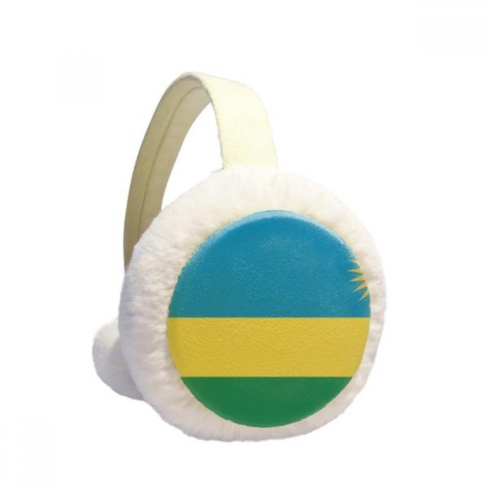 Rwanda National Flag Africa Country Winter Earmuffs Ear Warmers Faux Fur Foldable Plush Outdoor Gift