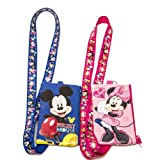 Disney Set of 2 Mickey and Minnie Mouse Lanyards with Detachable Coin Purse