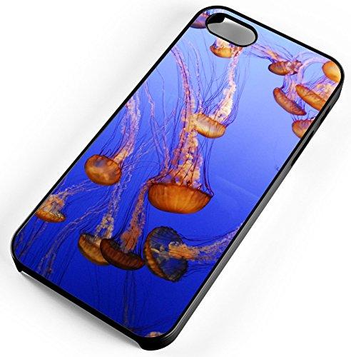 iPhone 7 Case Jellyfish Aquarium Fish Ocean Sea Jelly Monterey Customizable TYD Designs in Black Rubber