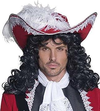 Brauner Dreispitz Piraten Hut Urkunde Rot Mit Band Und Feder