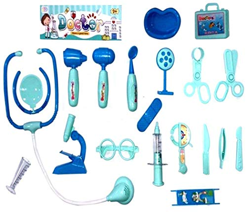 HALO NATION® Doctor Set for Kids Pretend Play Toy, 20 Accessories , Compact Medical Accessories Toy Set