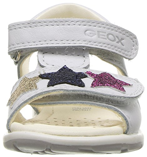 Pictures of Geox Girls' VERRED 16 Sandal White/Multicolor B8221B085BNC0653 6