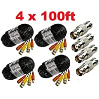 wennow (4)Pack 100ft Pre-made All-in-One Video and Power for Zmodo CCTV Security Camera